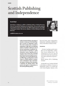 Scottish publishing and independence