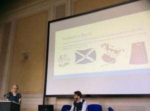 Rachel Noorda presenting her paper