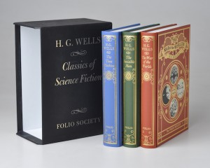H. G. Wells Set [3 Vols] Classics of Science Fiction The Time Machine, The Invisible Man, The War of the Worlds - Folio Society