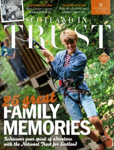 scotland in trust cover with a boy on a rope