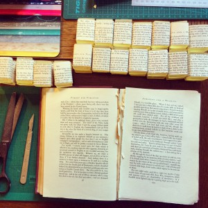 Lemongrass soap lovingly wrapped in book text
